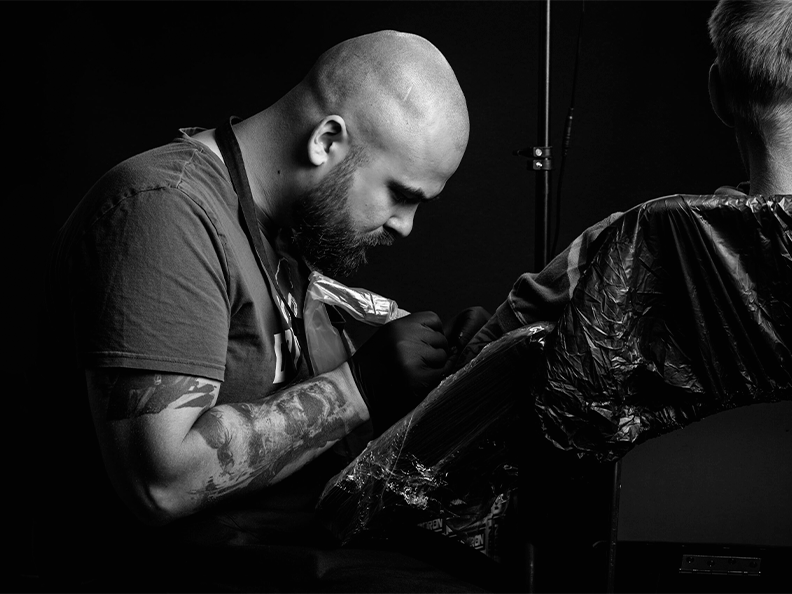 Tattoo artist Vasily